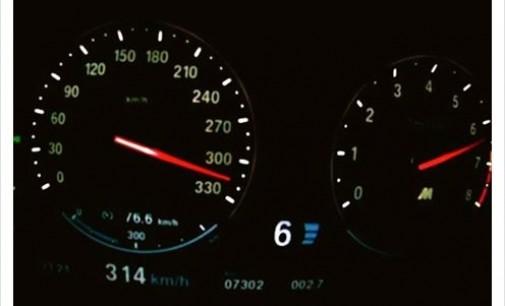 Фолкпевец шофира с 314 км/ч