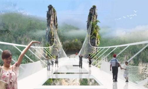 Най-големият стъклен мост ще бъде в Китай